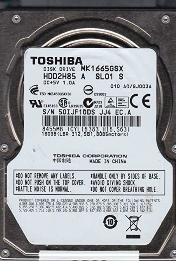 "HD 160 GB Toshiba 2.5"" sata"