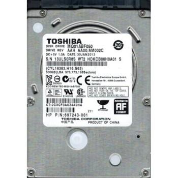 "HD 500 GB Toshiba 2.5"" sata"
